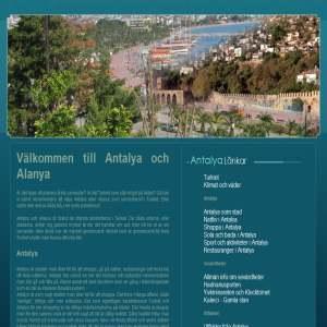Turistinformation om Antalya och Alanyan