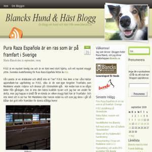 Blancks hund & h�st blogg