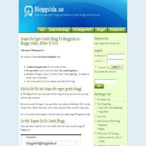 Bloggsida.se - Reklamfri Gratisblogg