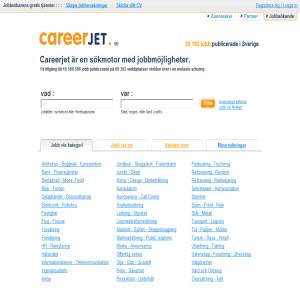 CareerJet.se - sökmotor för jobb i Sverige