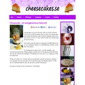 Cheesecakes.se - Recept på cheesecakes