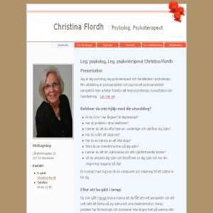 Christina Flordh Leg Psykolog Leg Psykoterapeut