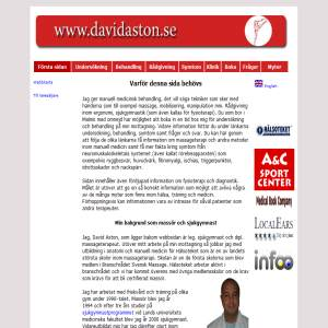 David Aston är sjukgymnast och massageterapeut som behandlar med massage