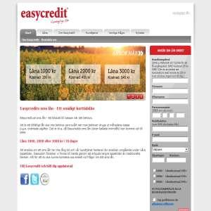 Sms lån upp till 3000 kr från Easycredit