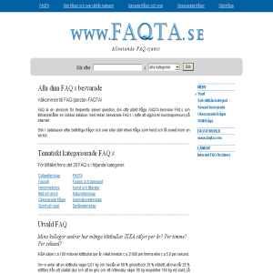 FAQ-tjänst FAQTA