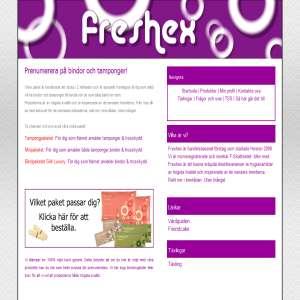 Prenumerera på bindor och tamponger - Freshex.se
