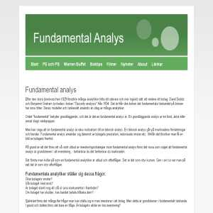 Fundamentalanalys