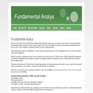 Fundamentalanalys