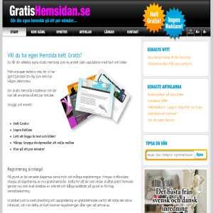 gratis hemsida utan reklam