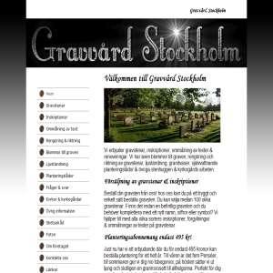 Gravvård Stockholm - Gravstenar, inskriptioner, blommor