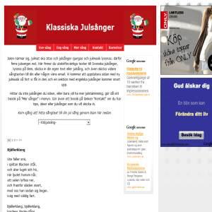 julsanger.net - klassiska utskriftsvänliga julsånger
