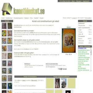 Konstblocket.se - Skapa ditt eget galleri på nätet