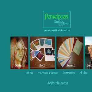 Penselpoesi Kort & Kuvert
