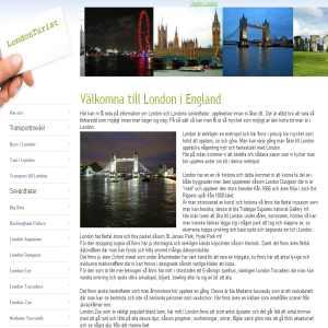 Turist i London