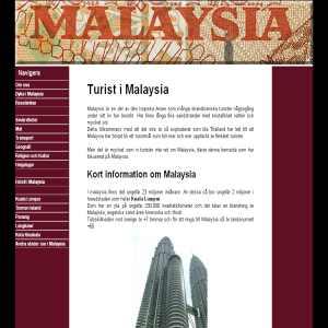 Turist i Malaysia
