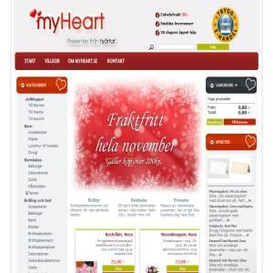 Myheart.se - Presenter från hjärtat