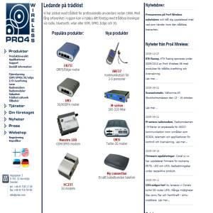 Trådlösa kommunikationslösningar från Pro4 Wireless