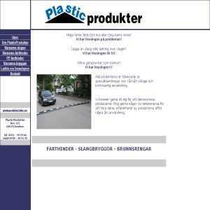Plasticprodukter - Farthinder, slangbryggor & brunnsringar