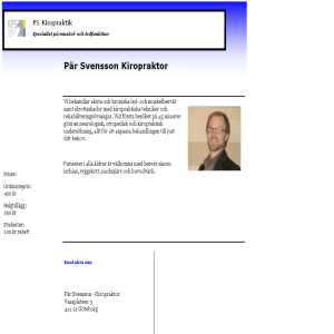 Kiropraktor Pär Svensson