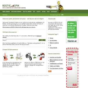 ROSTIG SPIK - byta tjänster och grejer med varann