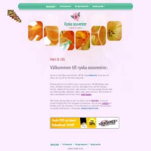 Ryska souvenirer med webshop