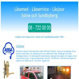 Låssmed Låsservice Låsjour i Solna-Sundbyberg