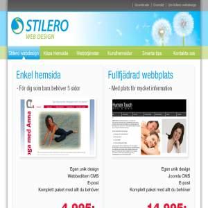 Joomla, webdesign och hemsidor till företag - Stilero