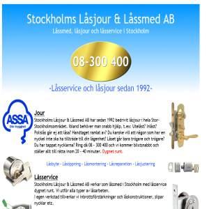 Stockholms Låsjour & Låssmed  AB  08 - 300 400