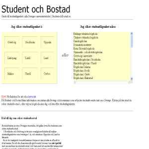 Student och Bostad - Hitta Studentbostad