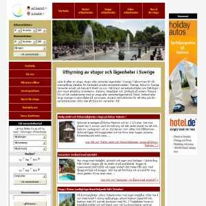 Stuguthyrning: Stugor och lägenheter i hela Sverige