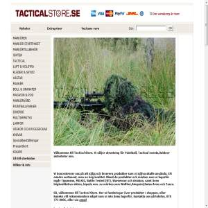 Tacticalstore paintball webshop