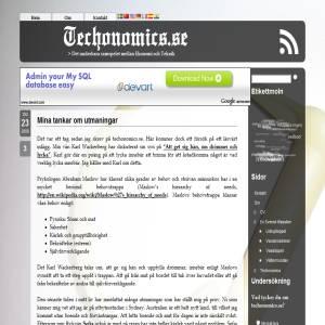 Samspelet mellan ekonomi och teknik