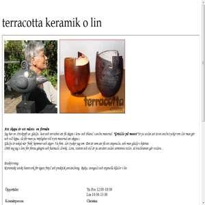 Terracotta Keramik och Lin