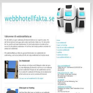 Fakta om Webbhotell