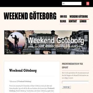 Weekend i G�teborg