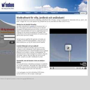 Windon AB - Vindkraftverk för småskalig drift av vindkraft