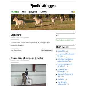 Fjordhästbloggen