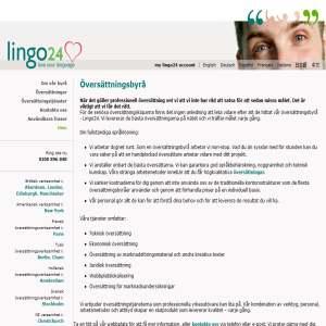 Lingo24 Översättningsbyrå
