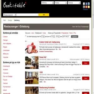 Restauranger i Göteborg