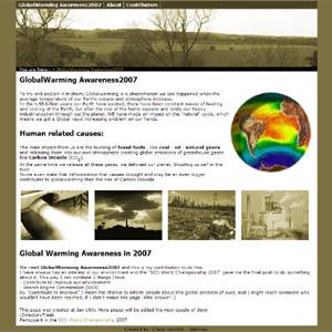 Global Warming Awareness 2007 - Kemi & SEO